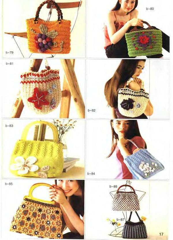 örgü kadın çanta çeşitleri