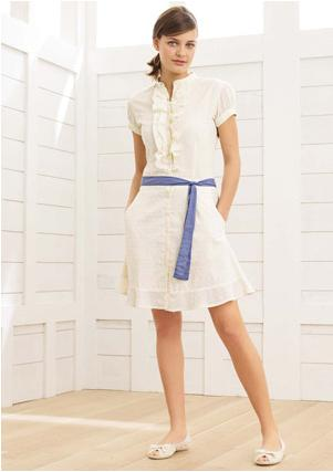 kadın beyaz yazlık elbise modelleri