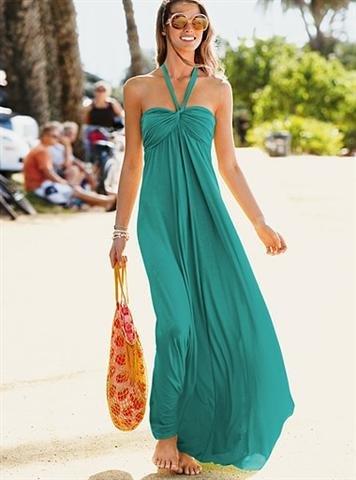 yeşil yazlık elbise