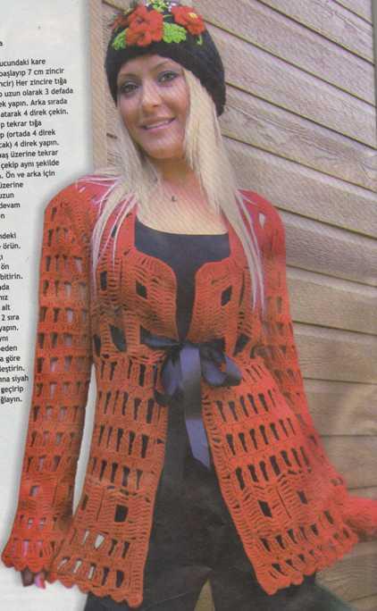 delikli ceket2 kadın örgü ceket modelleri