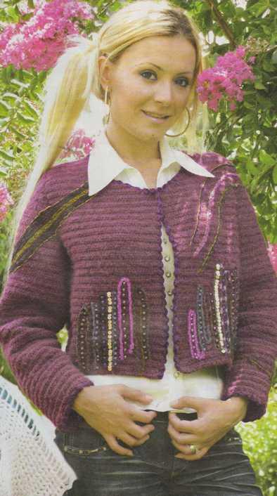 yelek kadın örgü ceket modelleri