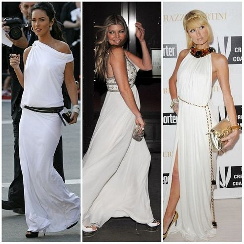 beyaz günlük uzun elbise modelleri