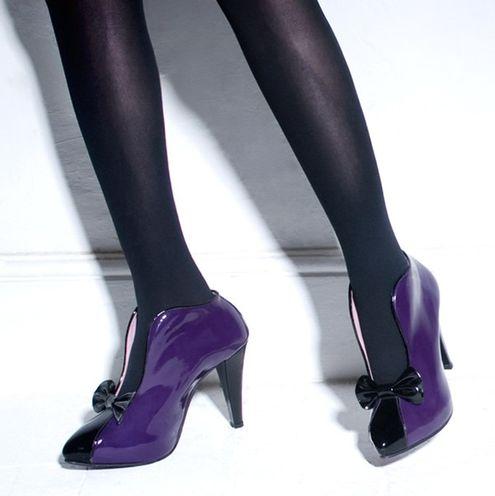 fiyonklu mor renkli rugan ayakkabi - Rugan bayan ayakkabı modelleri