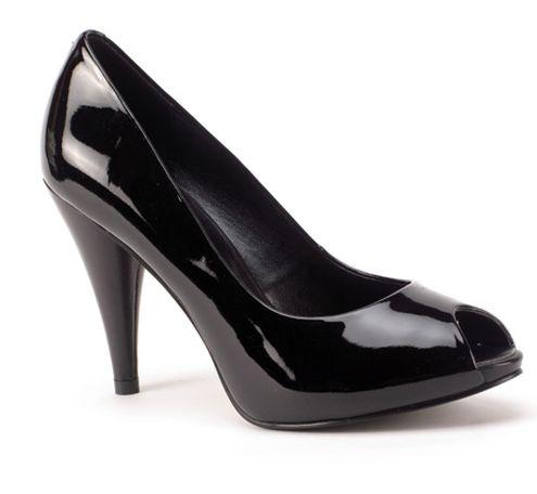 parlak siyah rugan ayakkabi - Rugan bayan ayakkabı modelleri
