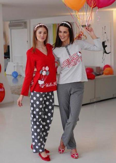 en son kirmizi hello kitty pijama modelleri - Pijama modelleri