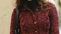 Burgu Modelli Düğmeli Yarım Bayan Bolero