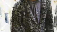 Buzlu Cam Örgü Modelleri Cepli V Yaka Erkek Hırkası