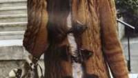 Kürk Aksesuarlı Düğmeli Kapüşonlu Uzun Hırka
