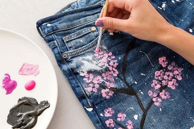 Рисунок на джинсы своими руками 44