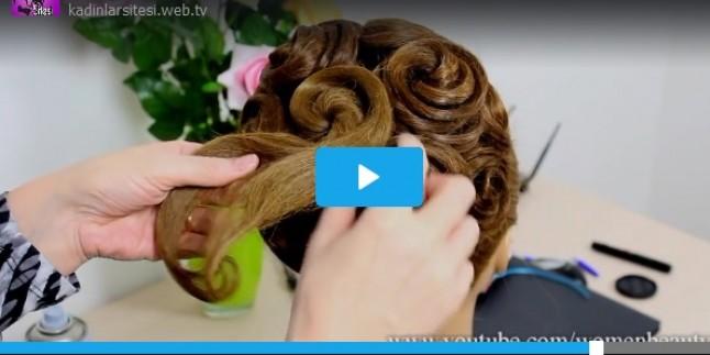 Gül Motifli Harika Bir Gelin Topuzu – Videolu Anlatım